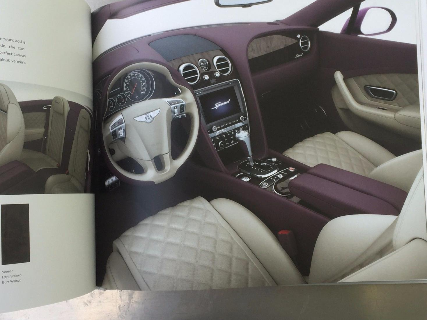 Bentley Motors 125-Page Book Brochure - The New Continental GT Range 2015