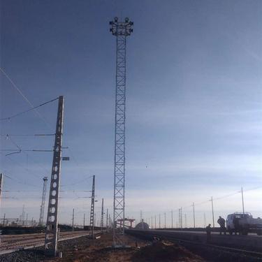高品质 高铁避雷塔 工艺装饰塔 铁塔通讯塔 气象监控塔 海上瞭望塔