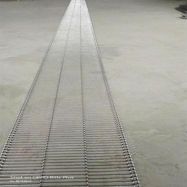 江苏不锈钢食品网带输送机自动化网链输送线金属人字网带