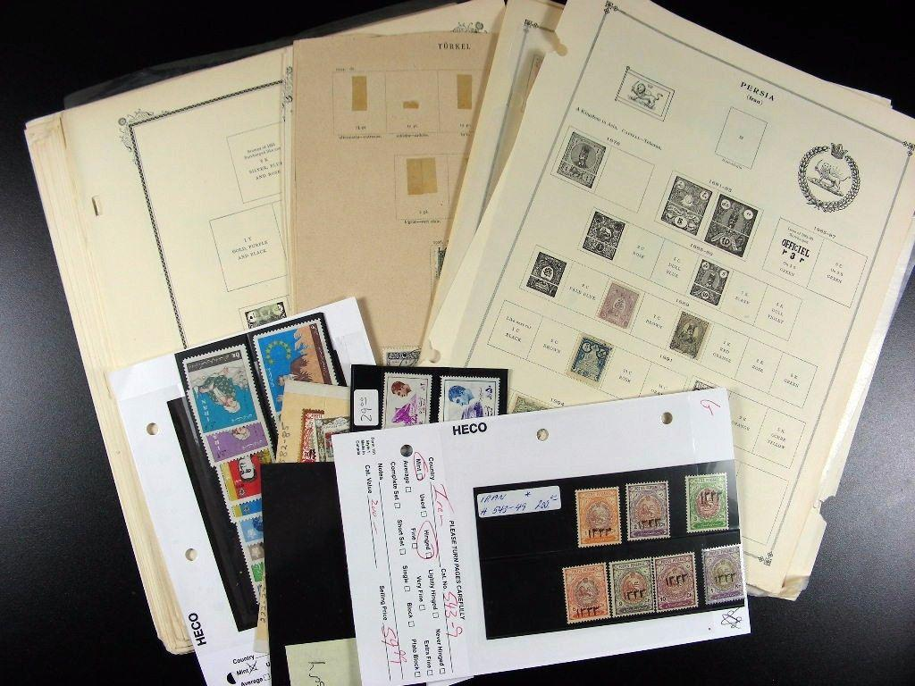 Collection of IRAN stamps includes 19th/20th century with Back of Book G765
