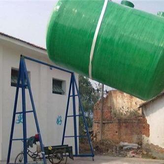湖北黄冈新型化粪池 80立方玻璃钢化粪池批发 钢筋混泥土化粪池